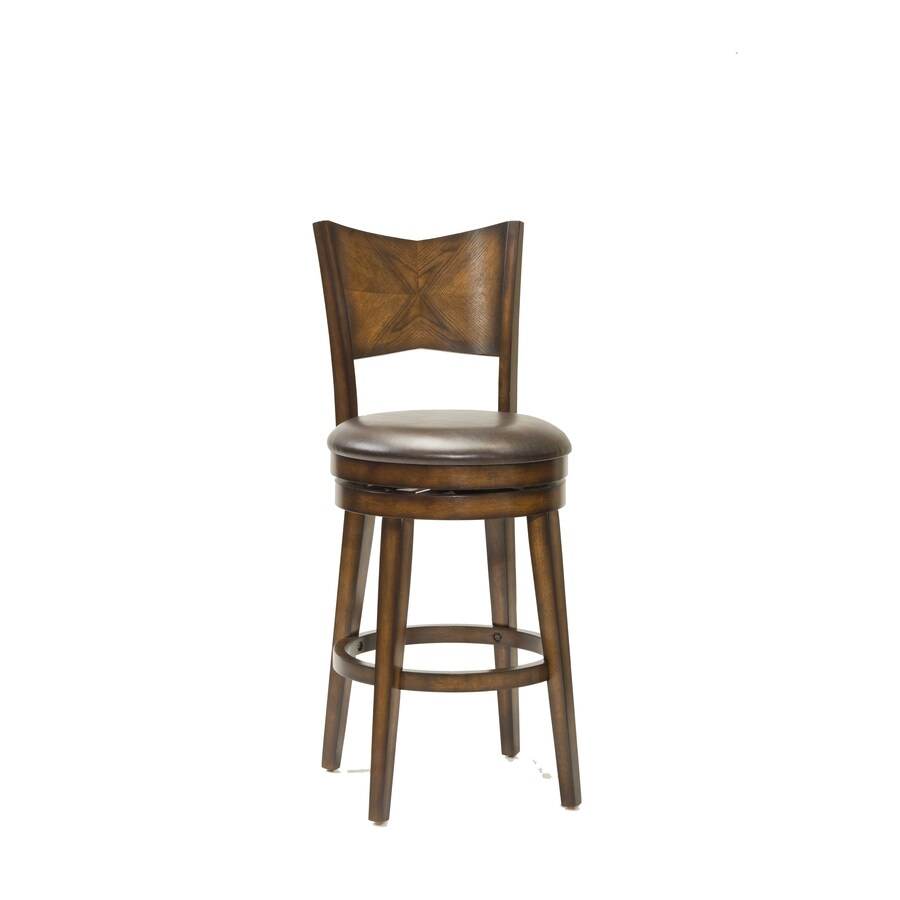 Shop Hillsdale Furniture Jenkins Casual Rustic Oak Bar Stool At