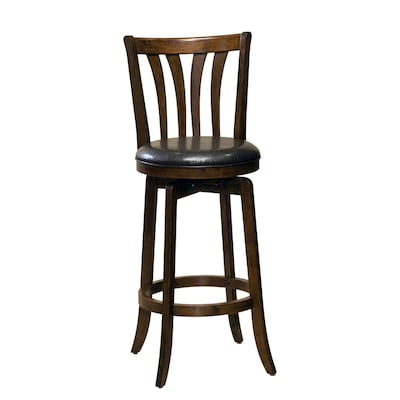 Astounding Hillsdale Furniture Savana Cherry Bar Stool At Lowes Com Squirreltailoven Fun Painted Chair Ideas Images Squirreltailovenorg