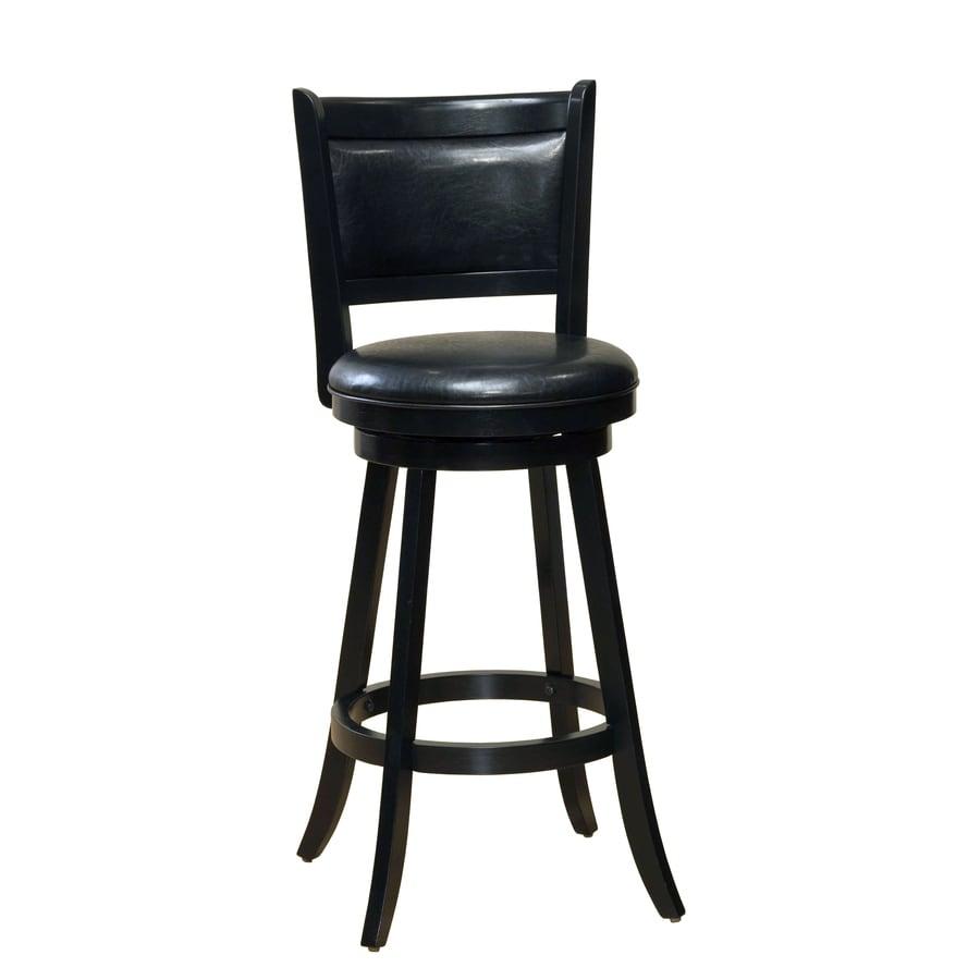 Hillsdale Furniture Dennery Black 24-in Counter Stool