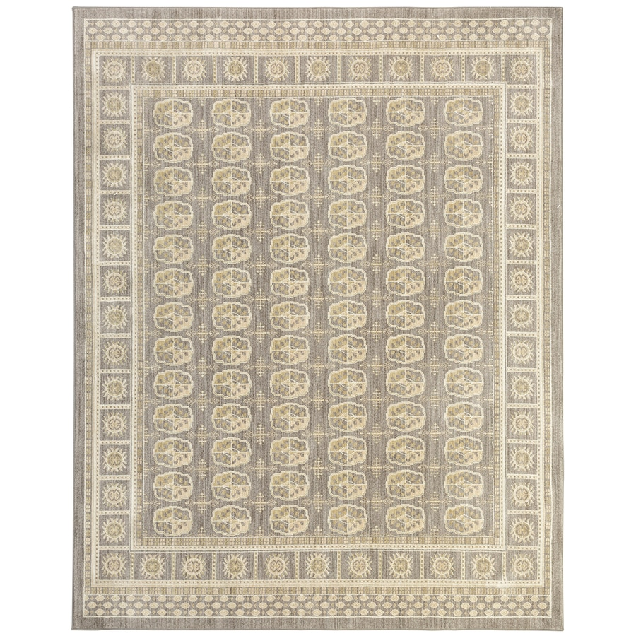 Mohawk Home Cascade Heights Caden Gray Rectangular Indoor Machine-Made Inspirational Area Rug (Common: 5 x 8; Actual: 5-ft W x 7-ft L x 0.5-ft dia)