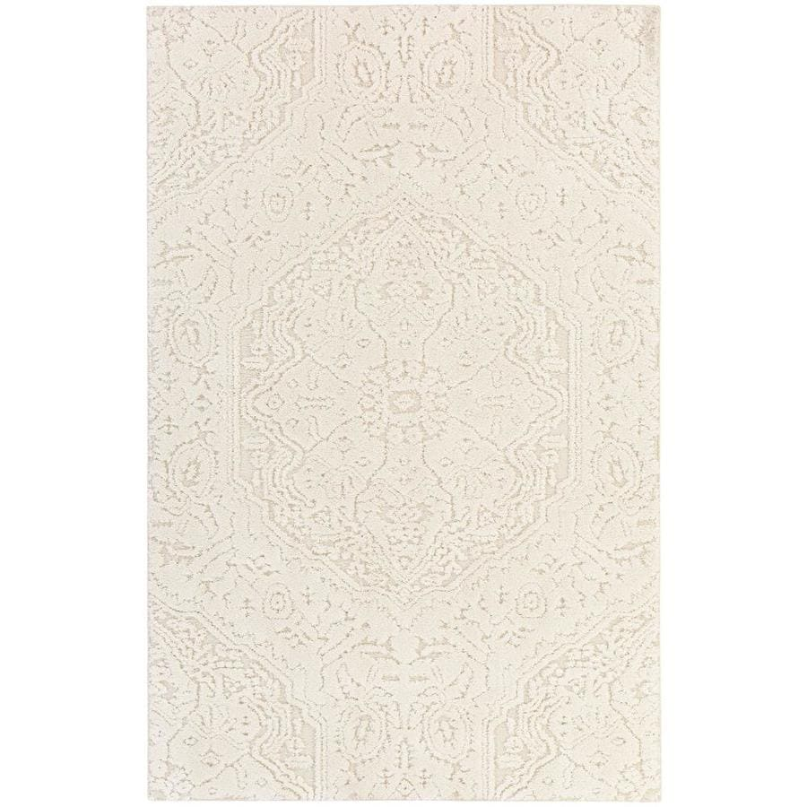 Mohawk Home Loft Francesca Cream Rectangular Indoor Machine-Made Area Rug (Common: 5 x 8; Actual: 60-in W x 96-in L)