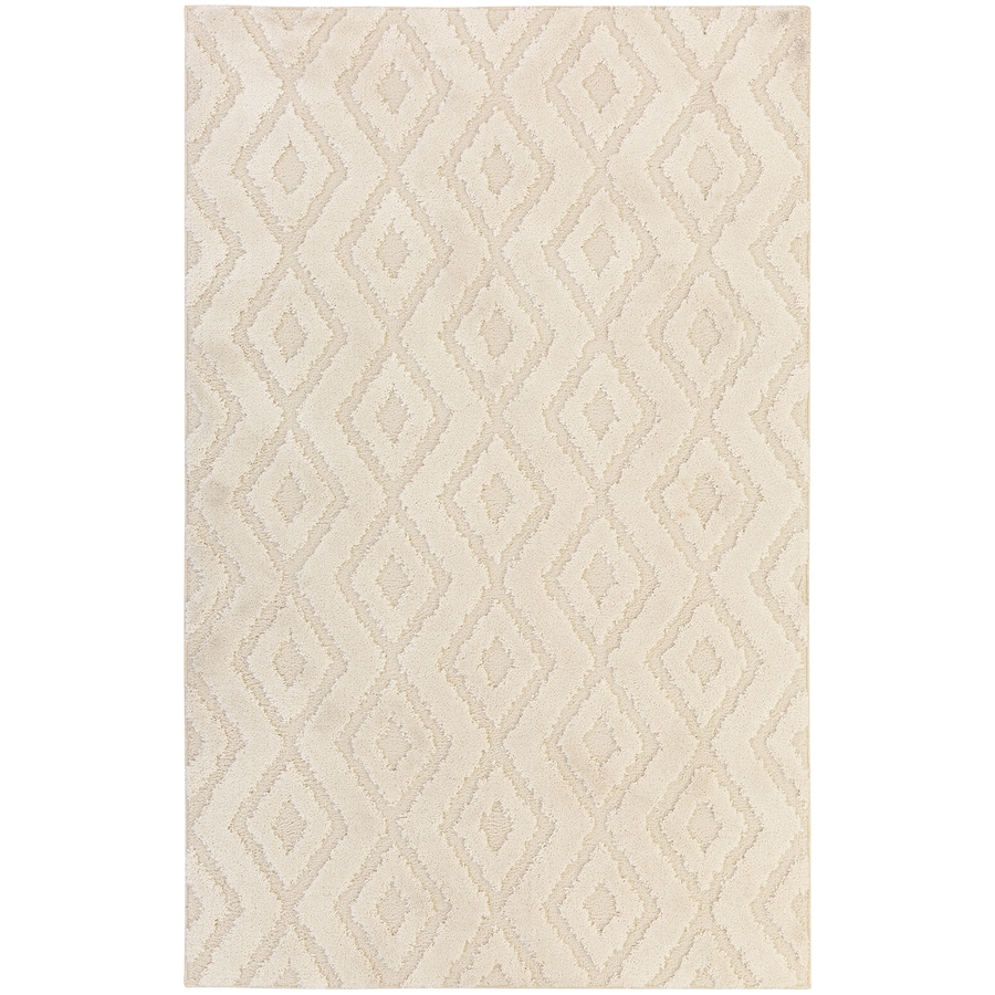 Mohawk Home Loft Hampshire Cream Rectangular Indoor Machine-Made Area Rug