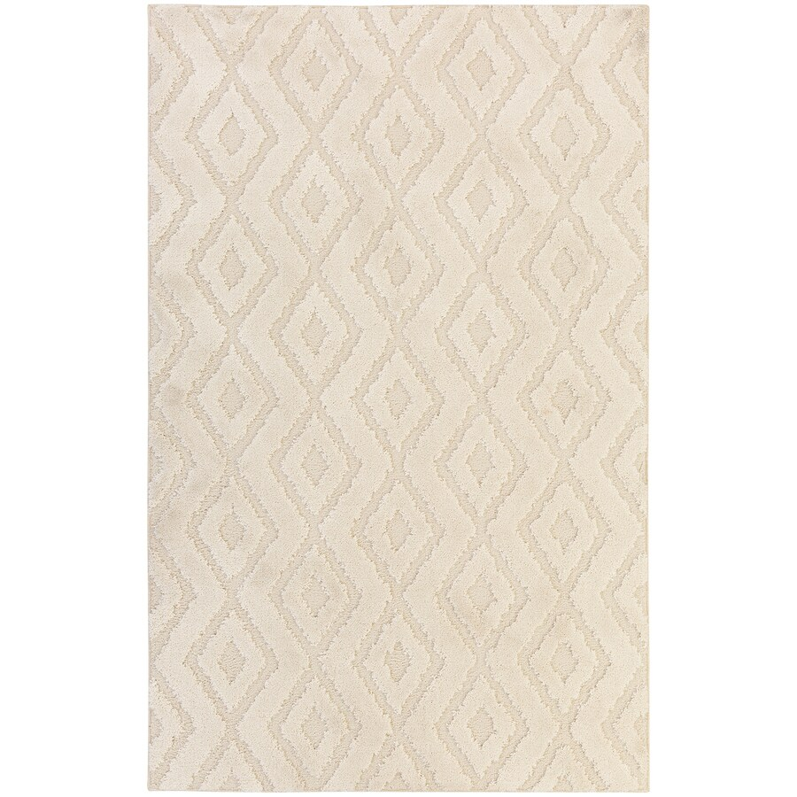 Mohawk Home Loft Hampshire Cream Rectangular Indoor Machine-Made Area Rug (Common: 5 x 8; Actual: 5-ft W x 8-ft L)