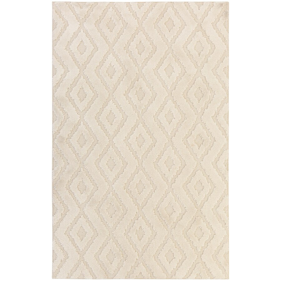 Mohawk Home Loft Hampshire Cream Rectangular Indoor Machine-Made Inspirational Area Rug (Common: 8 x 10; Actual: 8-ft W x 10-ft L x 0.5-ft dia)