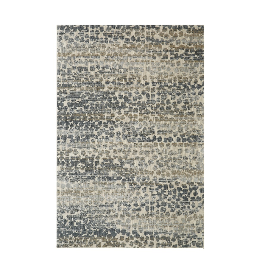 Mohawk Home Serenade Gamba Gray Rectangular Indoor Machine-Made Area Rug (Common: 5 x 8; Actual: 5.3-ft W x 7.1-ft L)