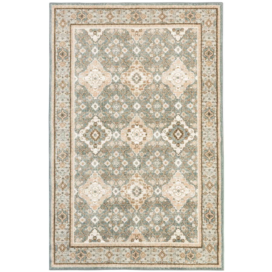 Mohawk Home Serenade Kapelle Gray Rectangular Indoor Machine-Made Area Rug (Common: 8 x 11; Actual: 8-ft W x 11-ft L)