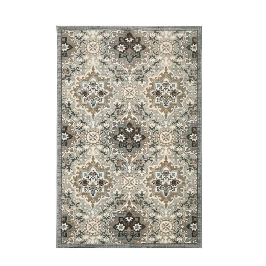 Mohawk Home Serenade Pavan Cream Rectangular Indoor Machine-Made Area Rug (Common: 5 x 8; Actual: 5-ft W x 7-ft L)