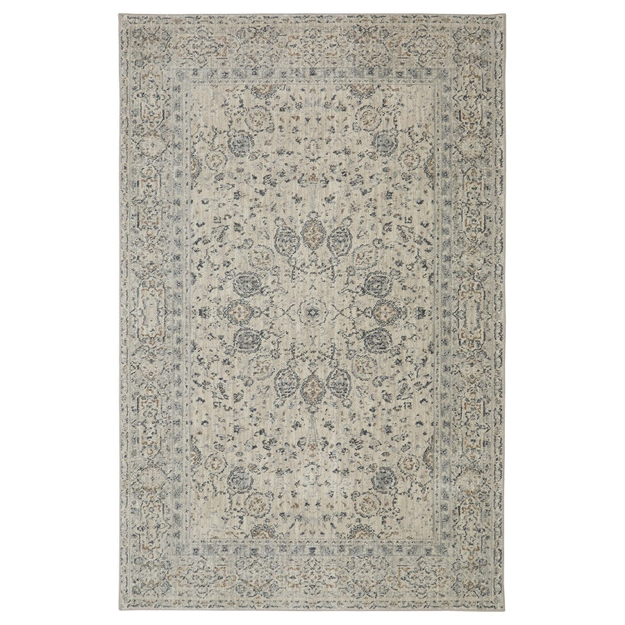 Mohawk Home Serenade Adagio Cream Rectangular Indoor Machine-Made Area Rug (Common: 5 x 8; Actual: 5-ft W x 7-ft L)