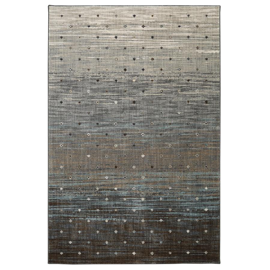 Mohawk Home Serenade Allegro Gray Rectangular Indoor Machine-Made Inspirational Area Rug (Common: 7 x 10; Actual: 7-ft W x 10-ft L x 0.5-ft dia)