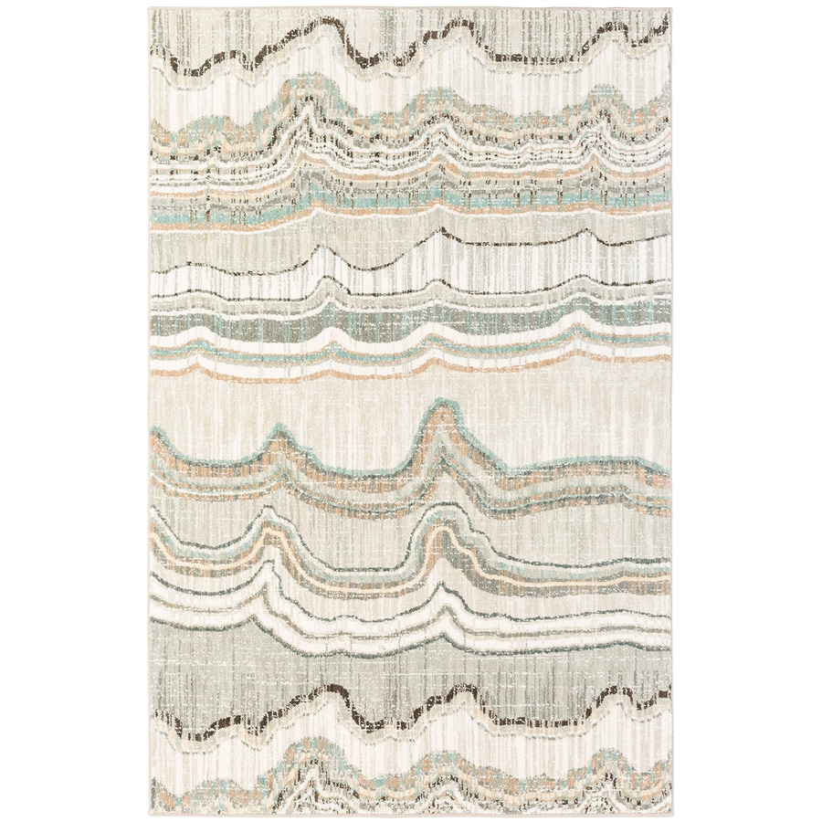 Mohawk Home Serenade Andante Gray Rectangular Indoor Machine-Made Area Rug