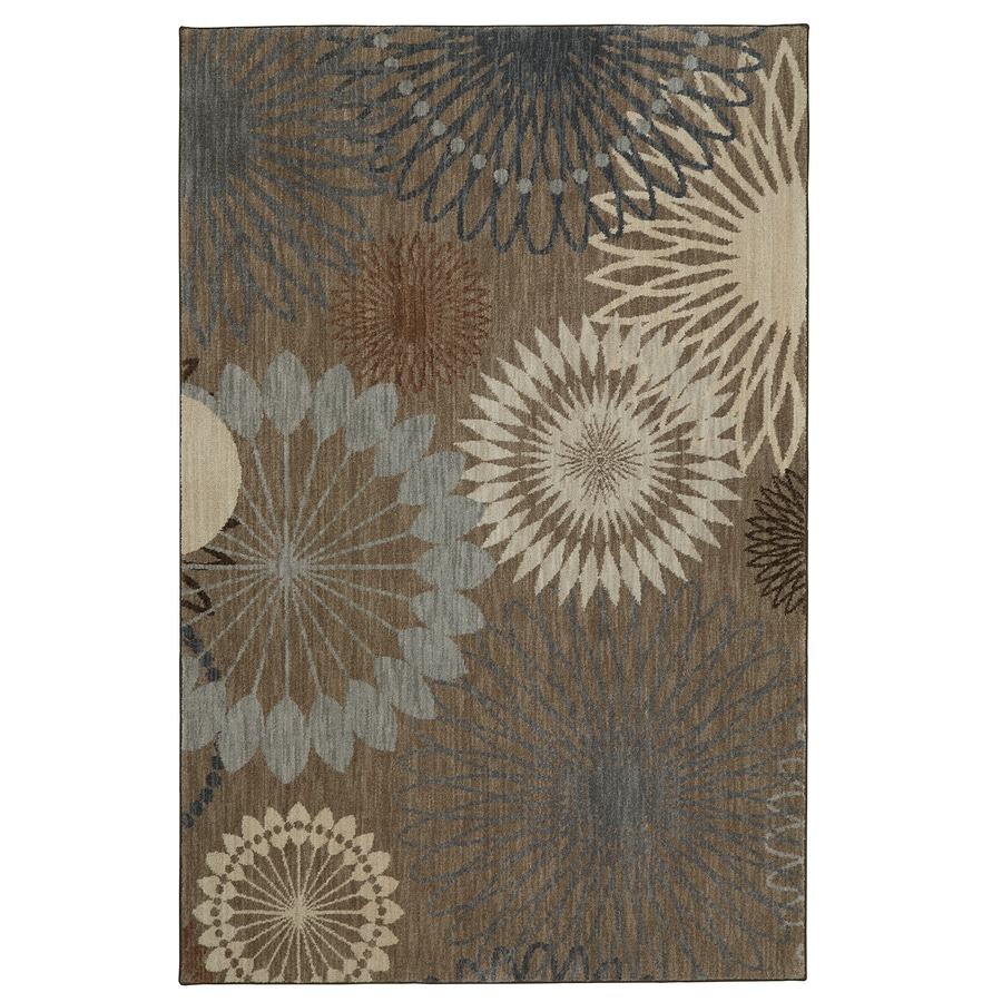 Mohawk Home Serenade Hazelnut Rectangular Indoor Machine-Made Inspirational Area Rug (Common: 5 x 8; Actual: 5-ft W x 8-ft L x 0.5-ft dia)
