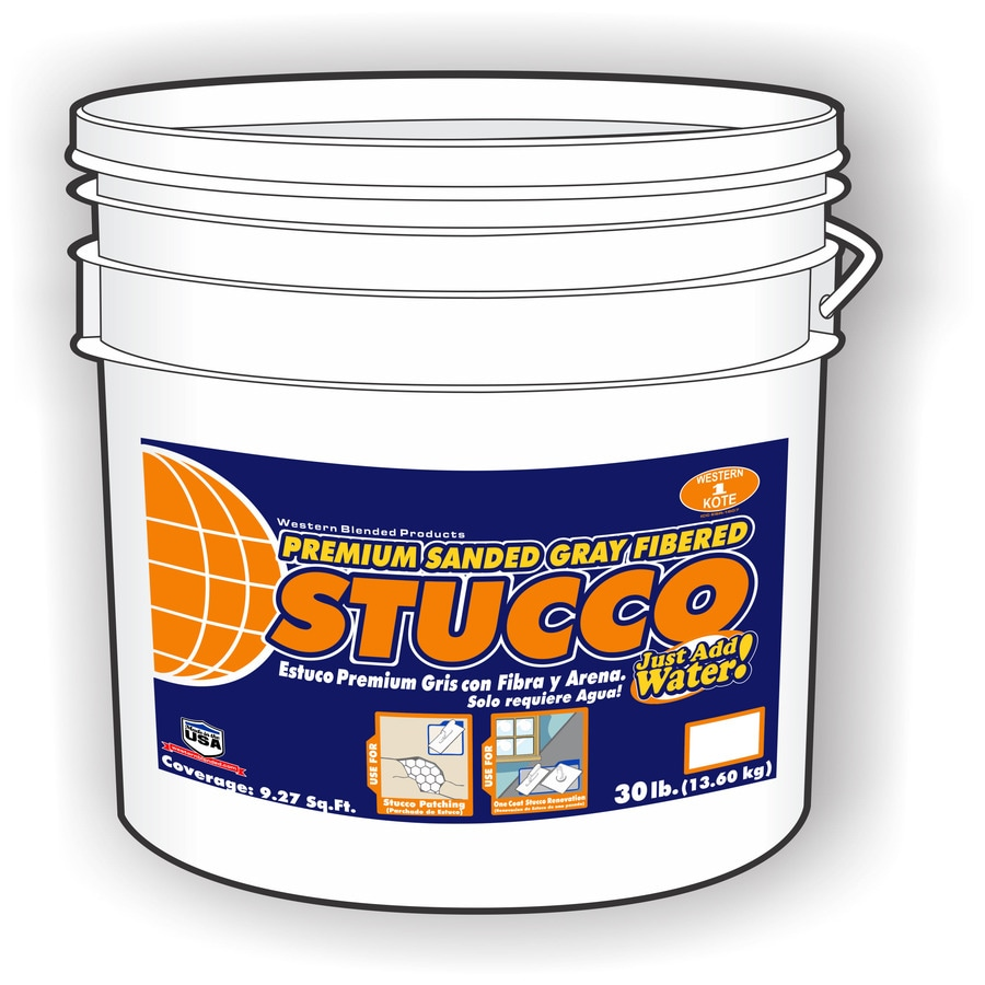 30-lb Premixed Base Coat Stucco Mix