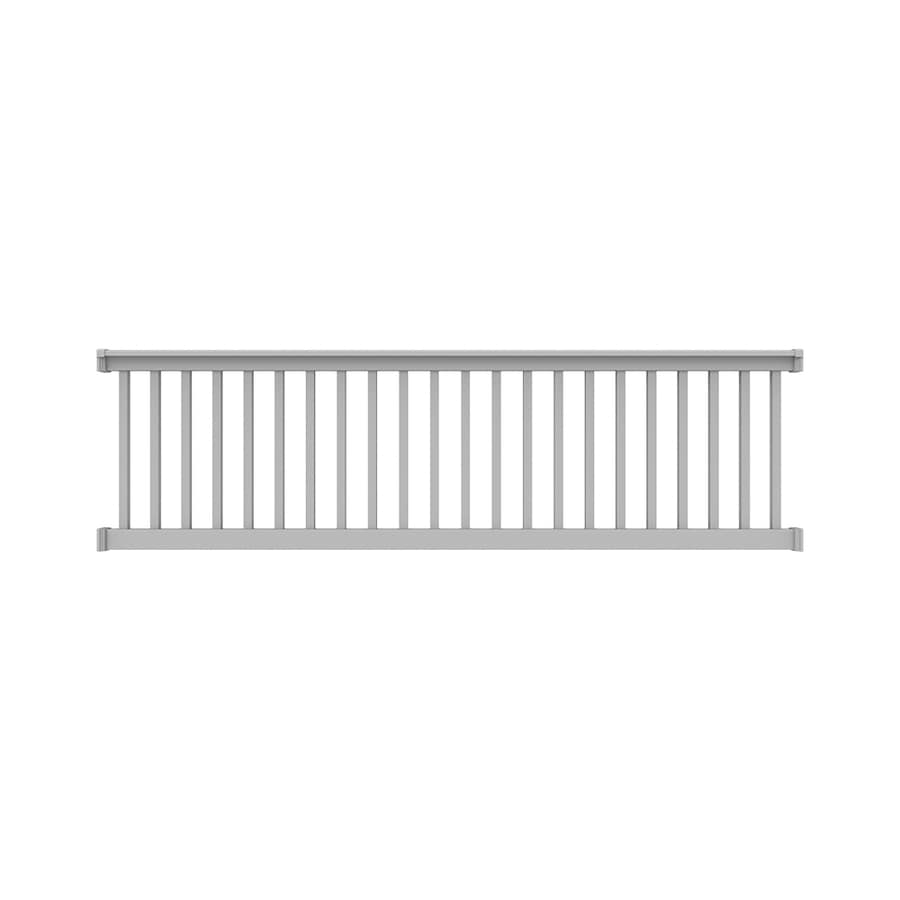 Freedom Lincoln 10 Ft X 3 In X 3 Ft White Pvc Deck Rail Kit With Balusters 17 Piece And Assembly Required In The Deck Railing Department At Lowes Com