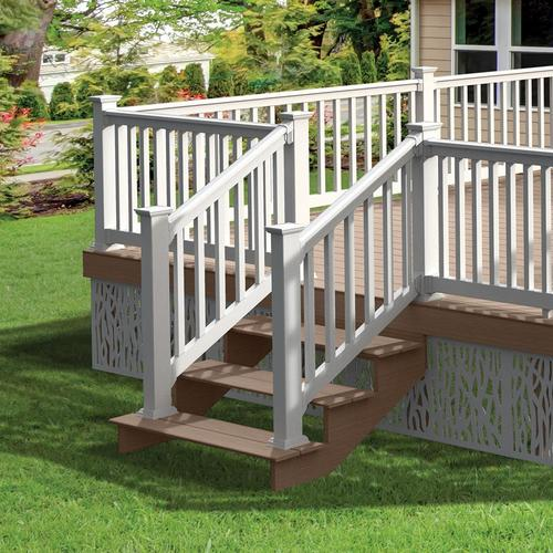Freedom Assembled 6 Ft X 3 Ft Lincoln Stair White Pvc