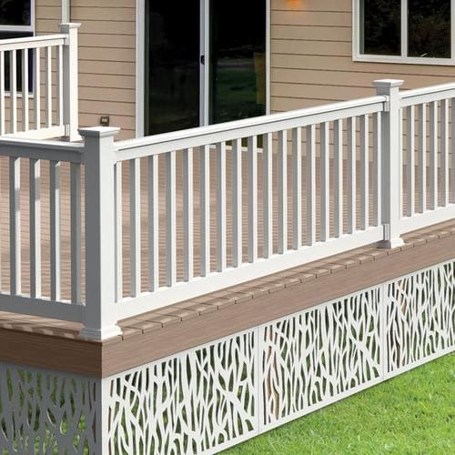 Freedom Lincoln 8-ft x 3-in x 3-ft White PVC Deck Deck ...