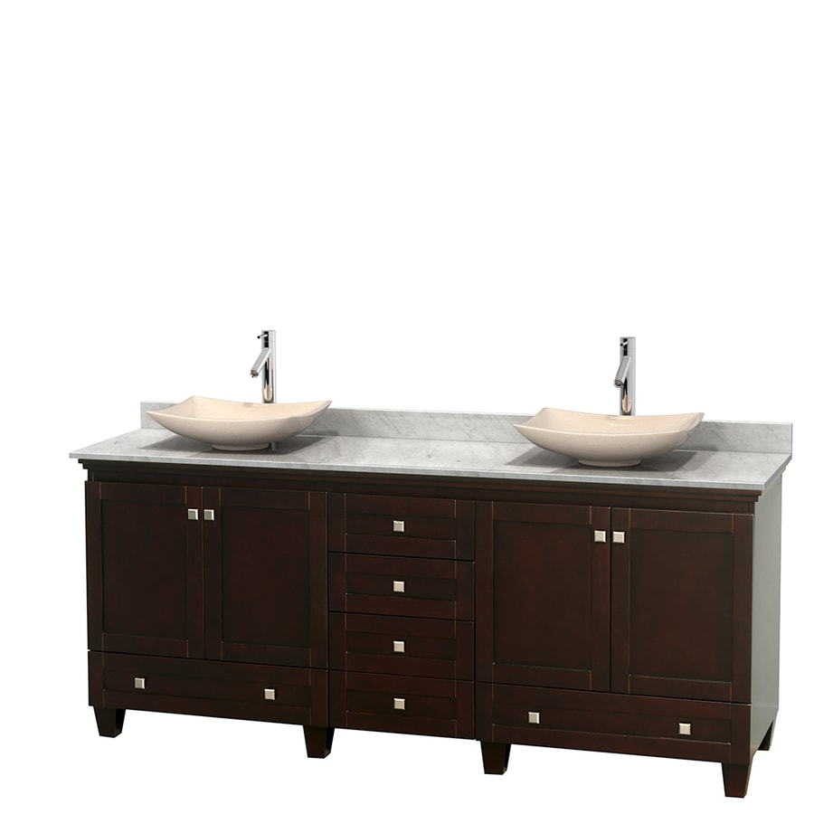 Shop Wyndham Collection Acclaim Espresso 80 In Vessel Double Sink Oak Bathroo