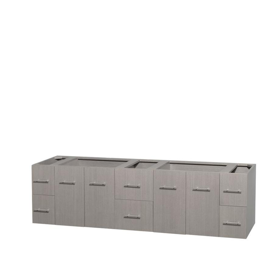 Wyndham Collection Centra 79 In Gray Oak Bathroom Vanity Cabinet At