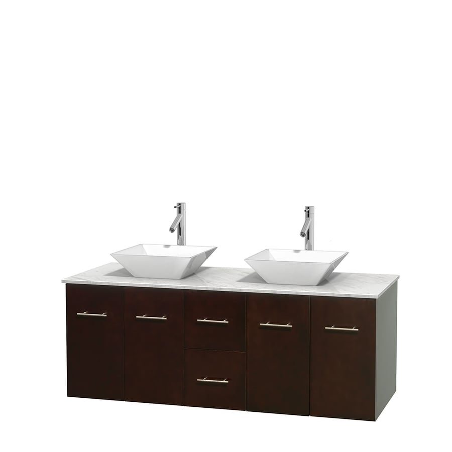 Shop Wyndham Collection Centra Espresso Double Vessel Sink