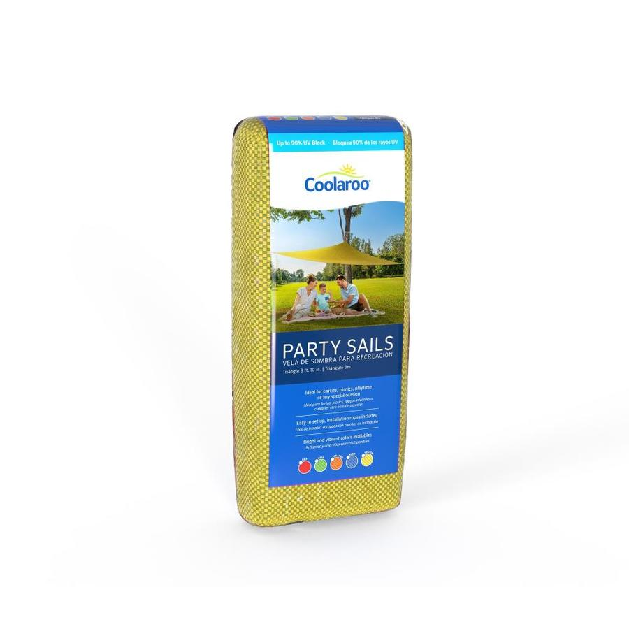 Coolaroo 10-ft W Yellow Shade Sail