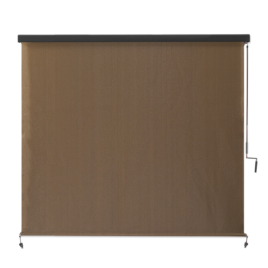 Coolaroo Mocha Light Filtering Cordless High-density Polyethylene Exterior Shade (Common: 72-in; Actual: 74.75-in x 72-in)