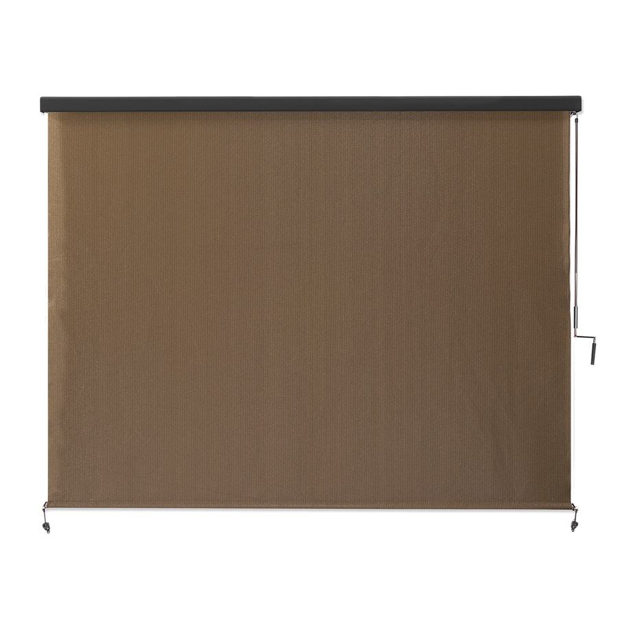 Shop coolaroo mocha light filtering cordless high density polyethylene exterior shade common Cordless exterior sun shades