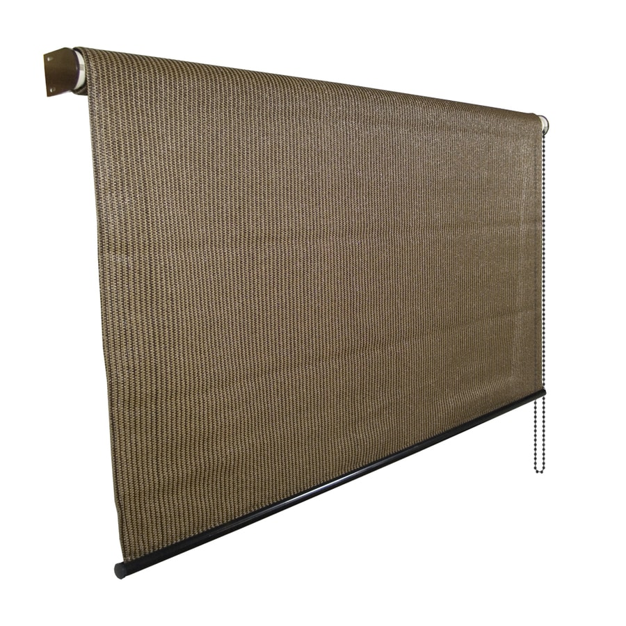 Coolaroo mocha light filtering pvc exterior shade shade - Coolaroo exterior retractable window shades ...