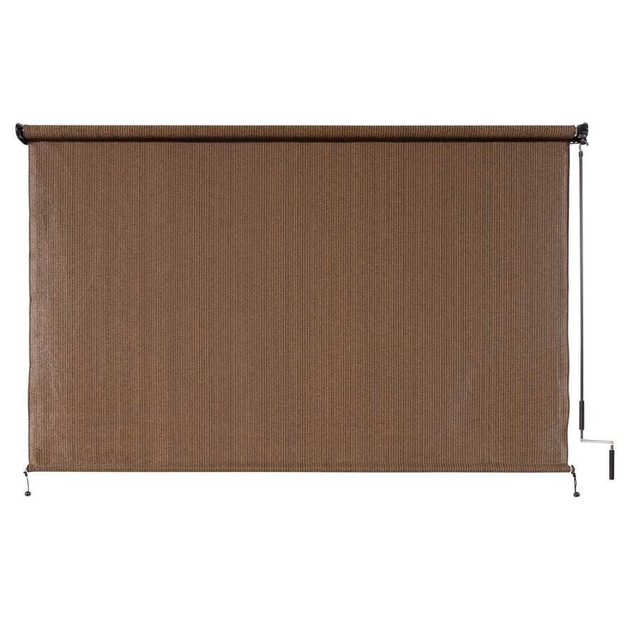 Amazing Coolaroo Mocha Light Filtering Cordless HDPE Exterior Shade (Common:  120 In; Actual
