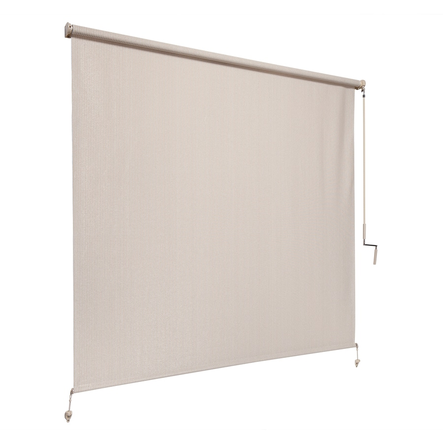 Coolaroo Pebble Light Filtering Cordless HDPE Exterior Shade (Common: 96-in; Actual: 98.75-in x 96-in)