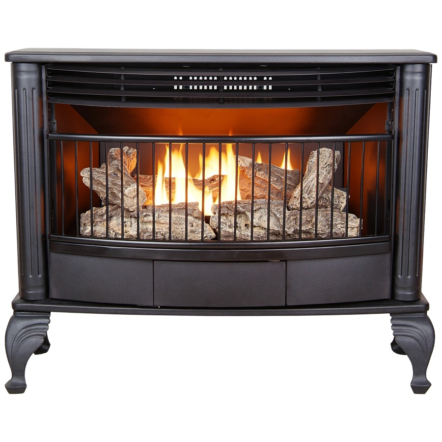 ProCom 33.5-in Black Vent-Free Gas Stove