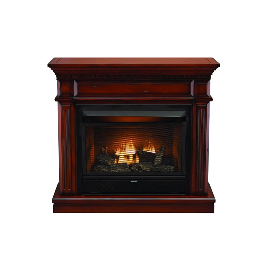 shop style selections 26000 btu cherry vent free gas gas fireplace logs at lowes gas fireplace insert at lowes