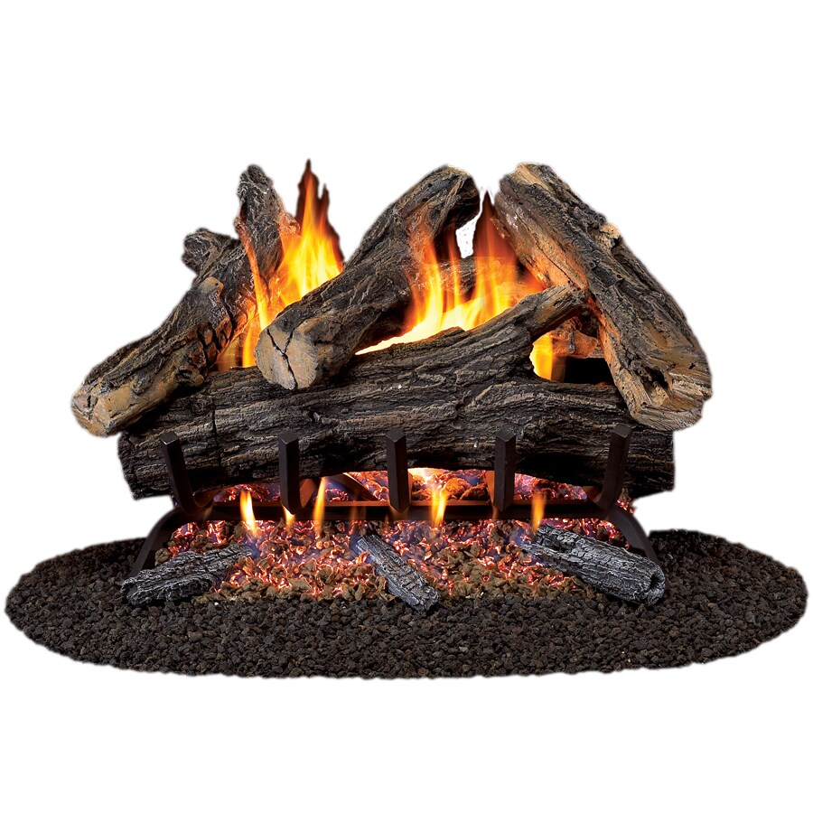 ProCom 24-in W/21-in W 55,000-BTU Dual Vented Gas Fireplace Logs