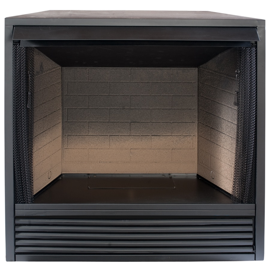 Shop procom 35-in w black vent-free gas fireplace firebox without logs at Lowes.com