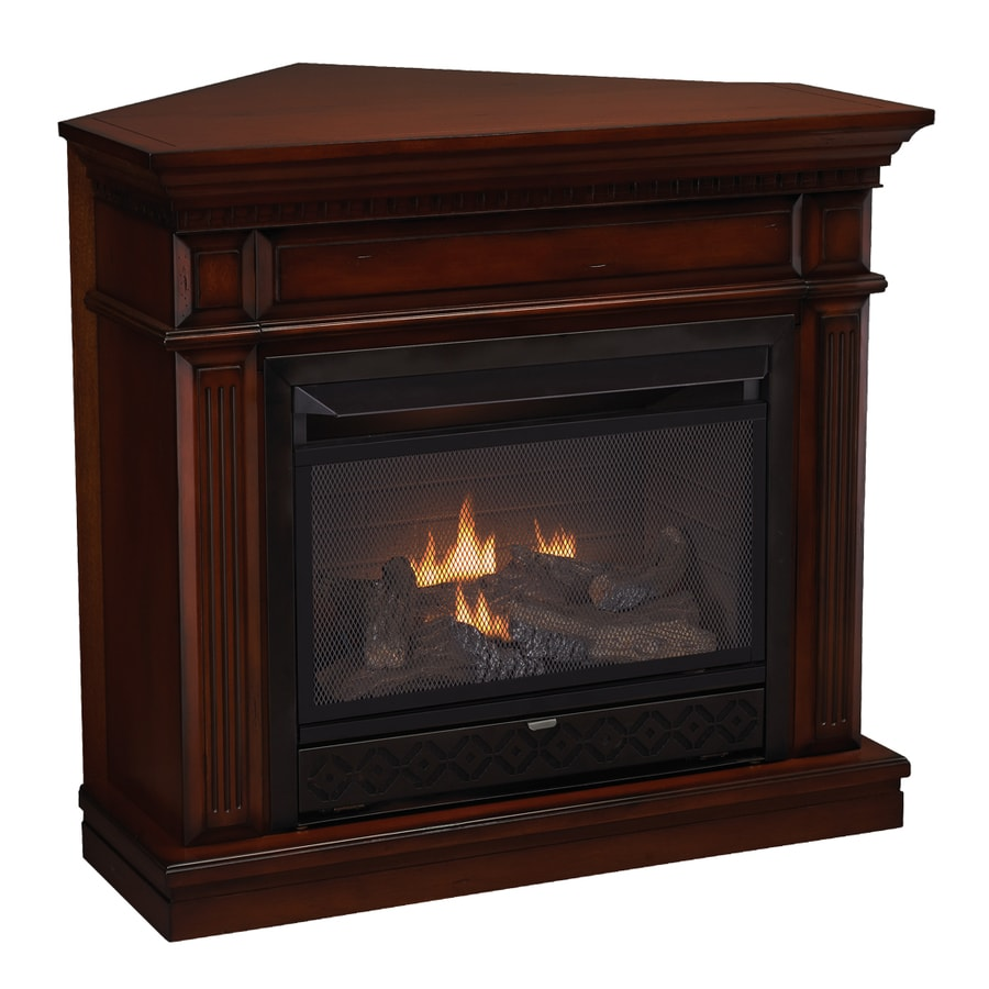 Cedar Ridge Hearth 42-in Dual-Burner Vent-Free Auburn Corner or Wall-Mount Liquid Propane and Natural Gas Fireplace