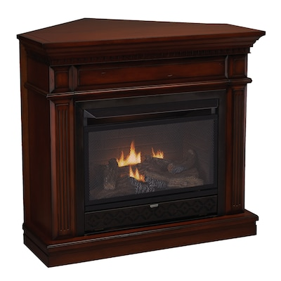 42 In Dual Burner Vent Free Auburn Corner Or Wall Mount Liquid Propane And Natural Gas Fireplace