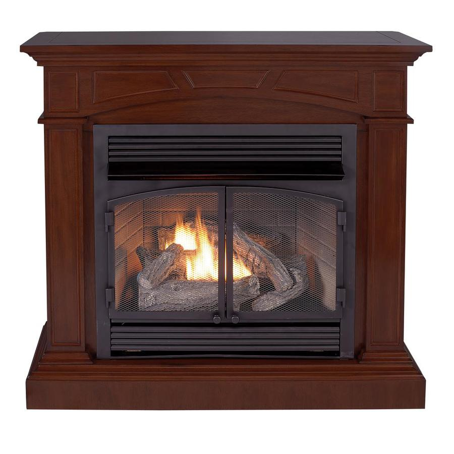 Cedar Ridge Hearth 44.53-in Dual-Burner Vent-Free Mink Corner or Wall-Mount Liquid Propane and Natural Gas Fireplace