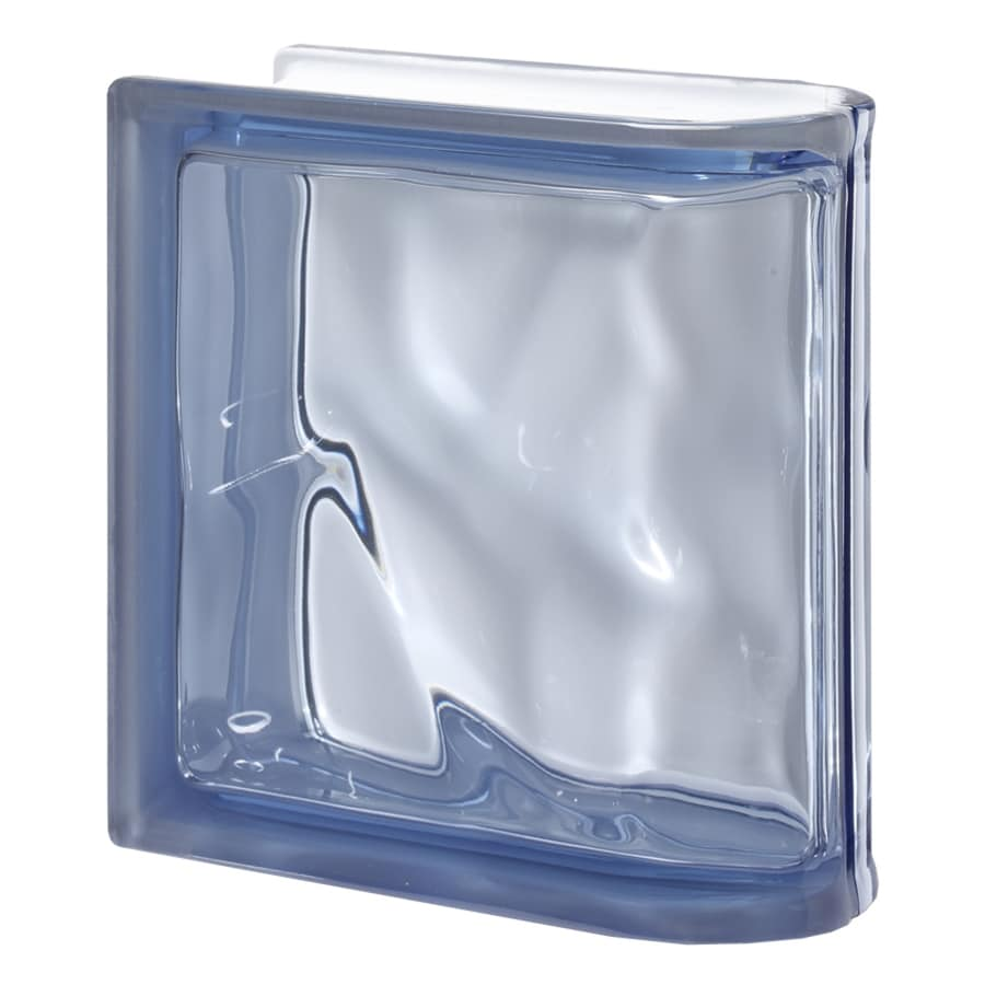 Design It Glass Block (Common: 8-in H x 8-in W x 3-in D; Actual: 7.5-in H x 7.5-in W x 3.15-in D)