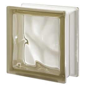 design it pegasus 5 pack siena wave glass block common 8 in - Glass Blocks Lowes