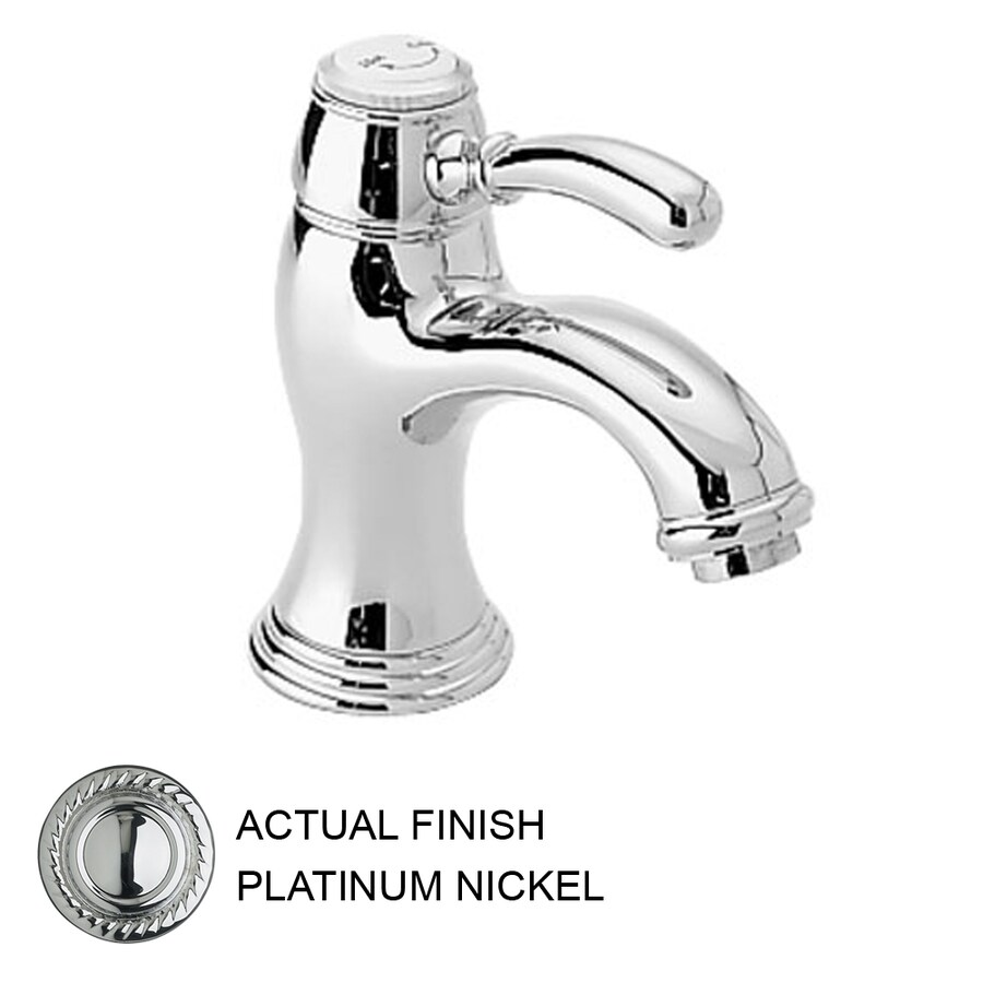 JADO Classic Platinum Nickel 1-Handle Single Hole WaterSense Labeled Bathroom Sink Faucet (Drain Included)
