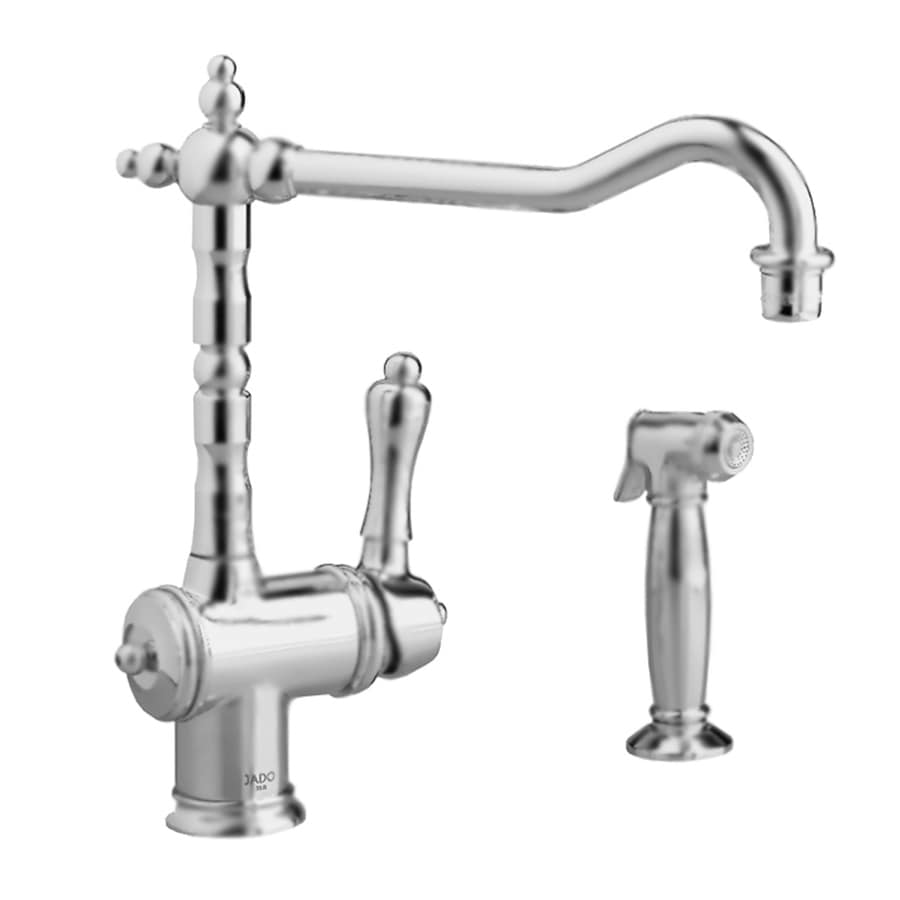 Charmant JADO Victorian Brushed Nickel 1 Handle High Arc Kitchen Faucet With Side  Spray