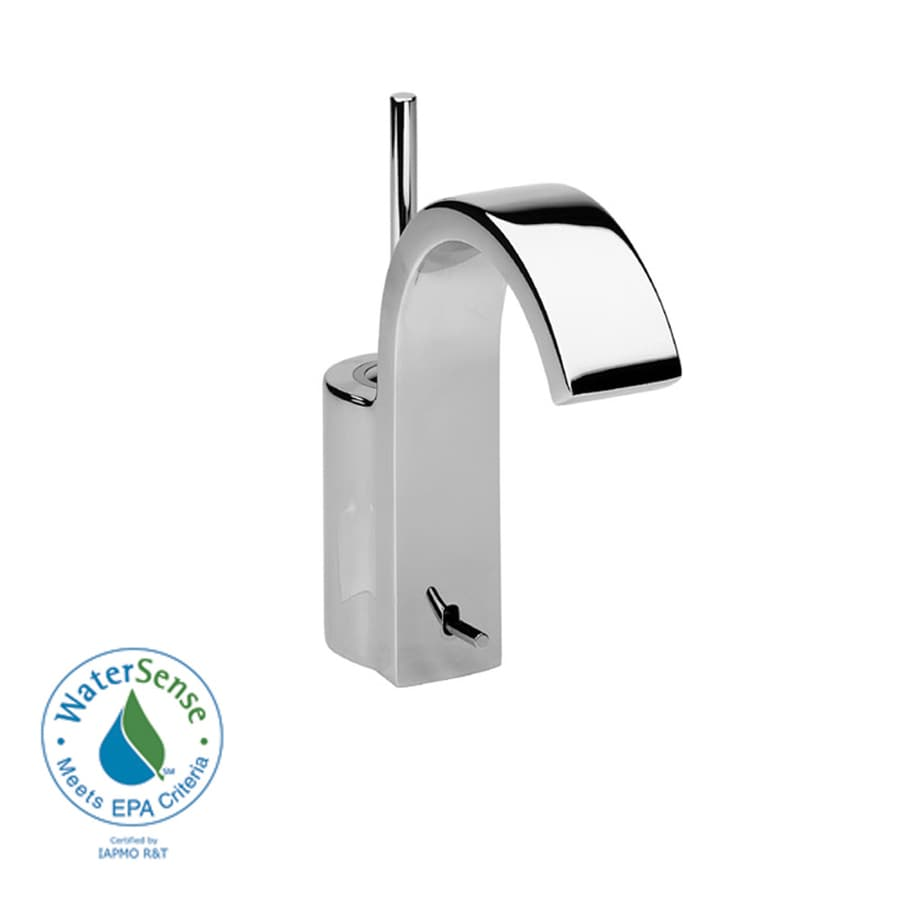 JADO Glance Polished Chrome 1-Handle Single Hole WaterSense Bathroom Sink Faucet (Drain Included)