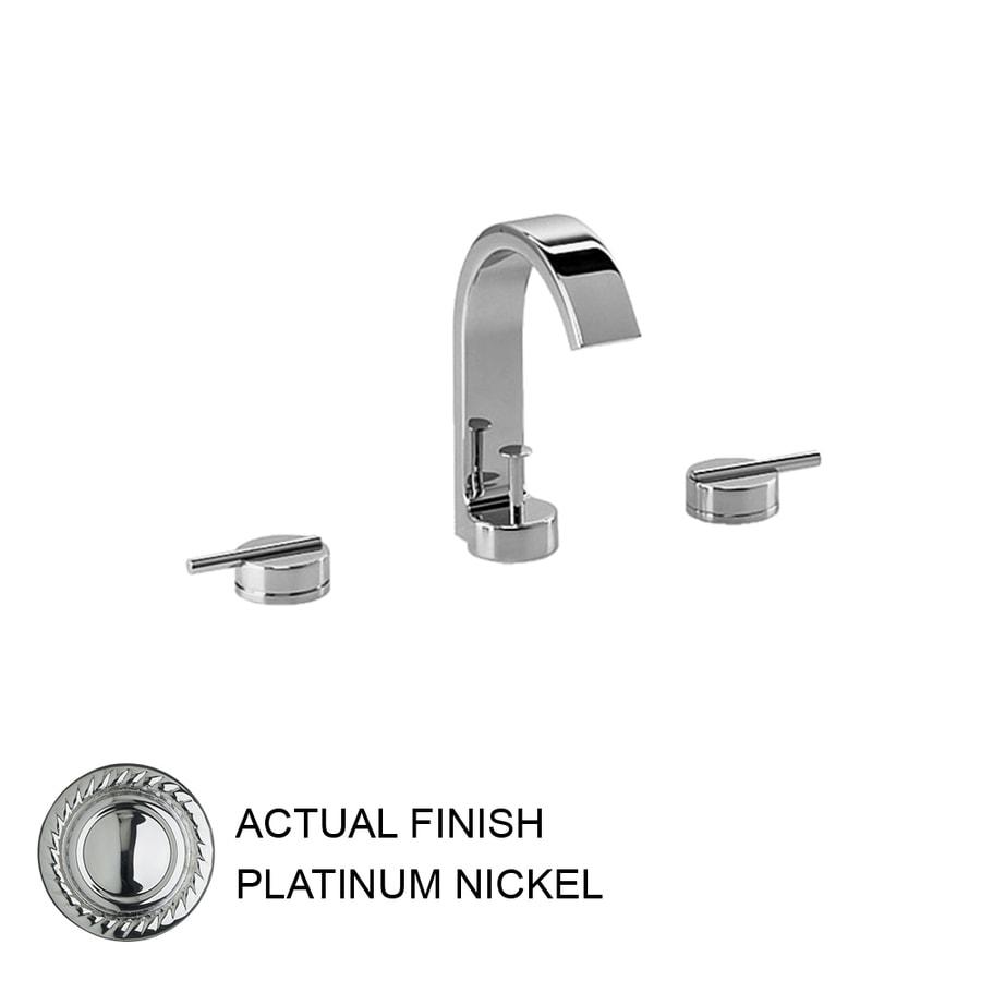 JADO Glance Platinum Nickel 2-Handle Widespread WaterSense Labeled Bathroom Sink Faucet (Drain Included)