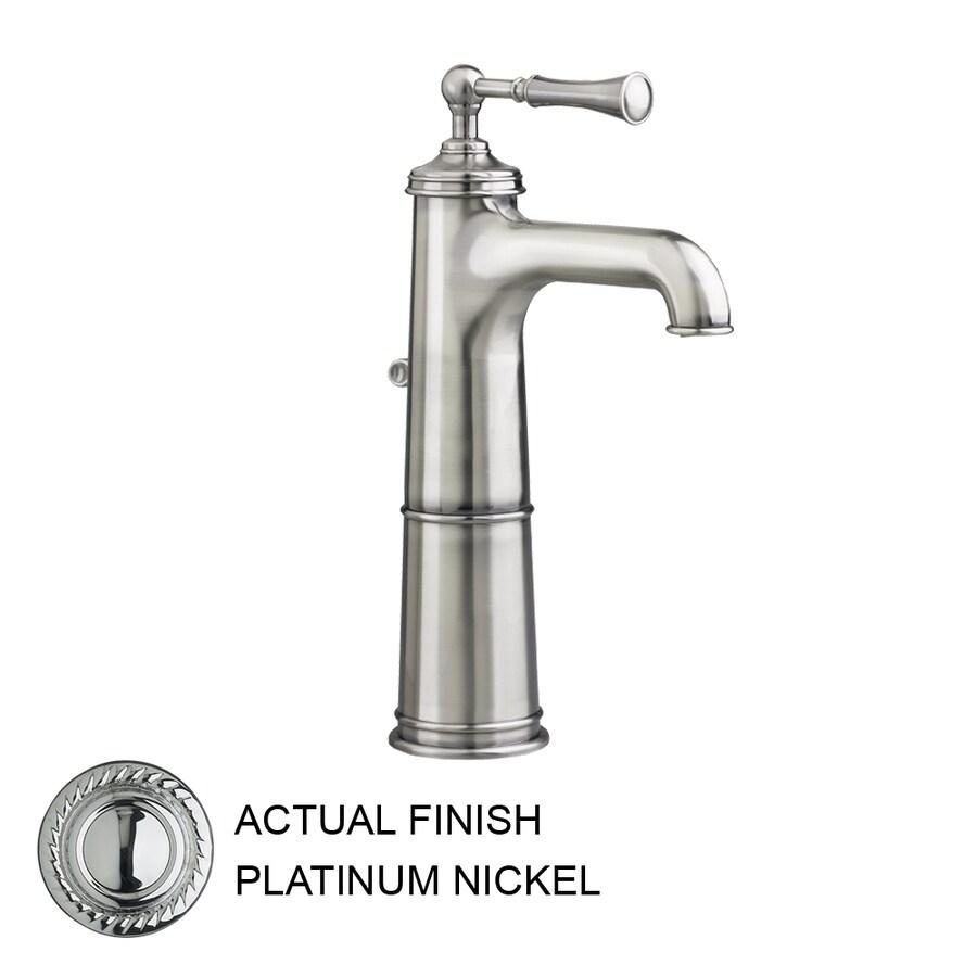 JADO Hatteras Platinum Nickel 1-Handle Single Hole WaterSense Labeled Bathroom Sink Faucet (Drain Included)