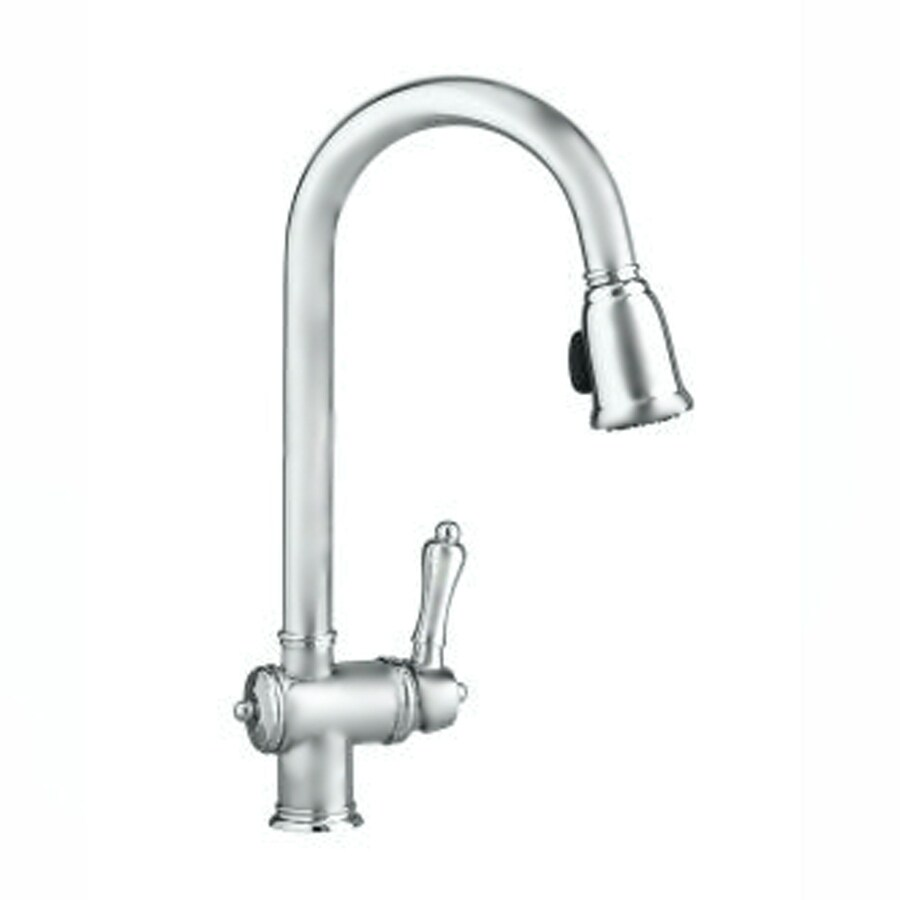 pull down kitchen faucet brushed nickel shop jado brushed nickel pull kitchen 27406