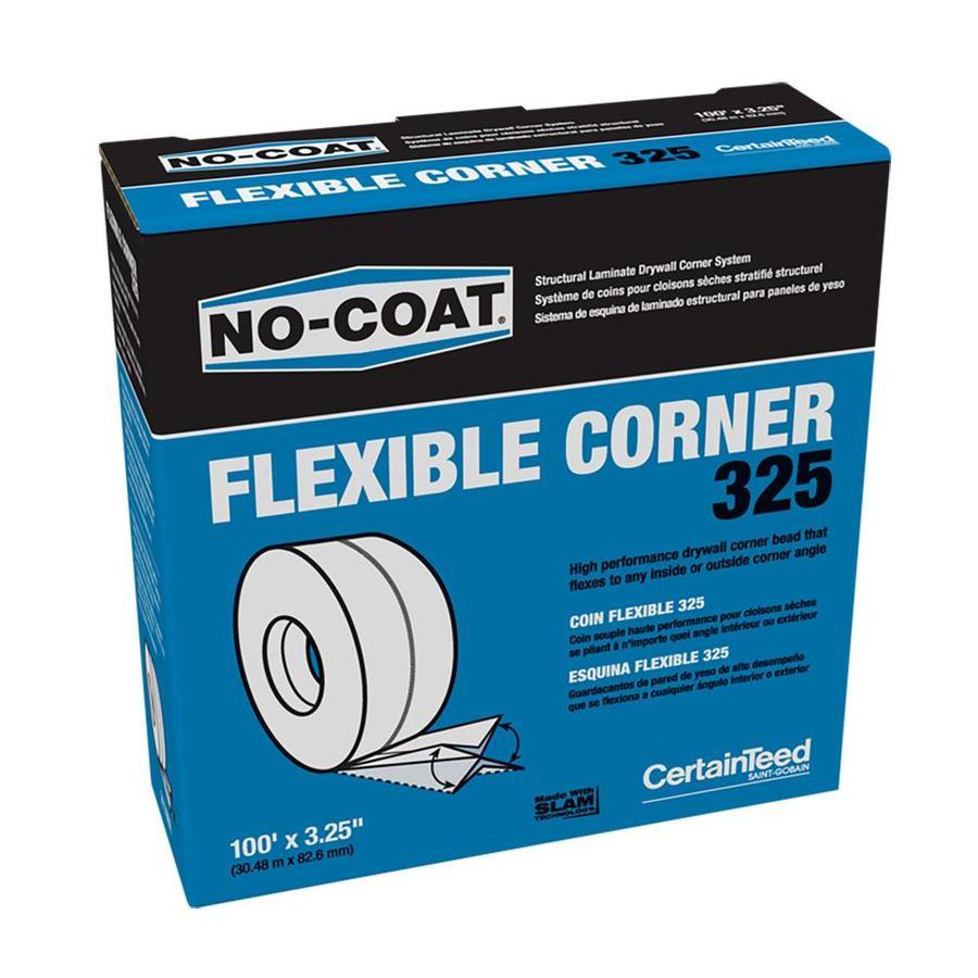 CertainTeed 3.25-in x 100-ft No-Coat Vinyl Corner Bead
