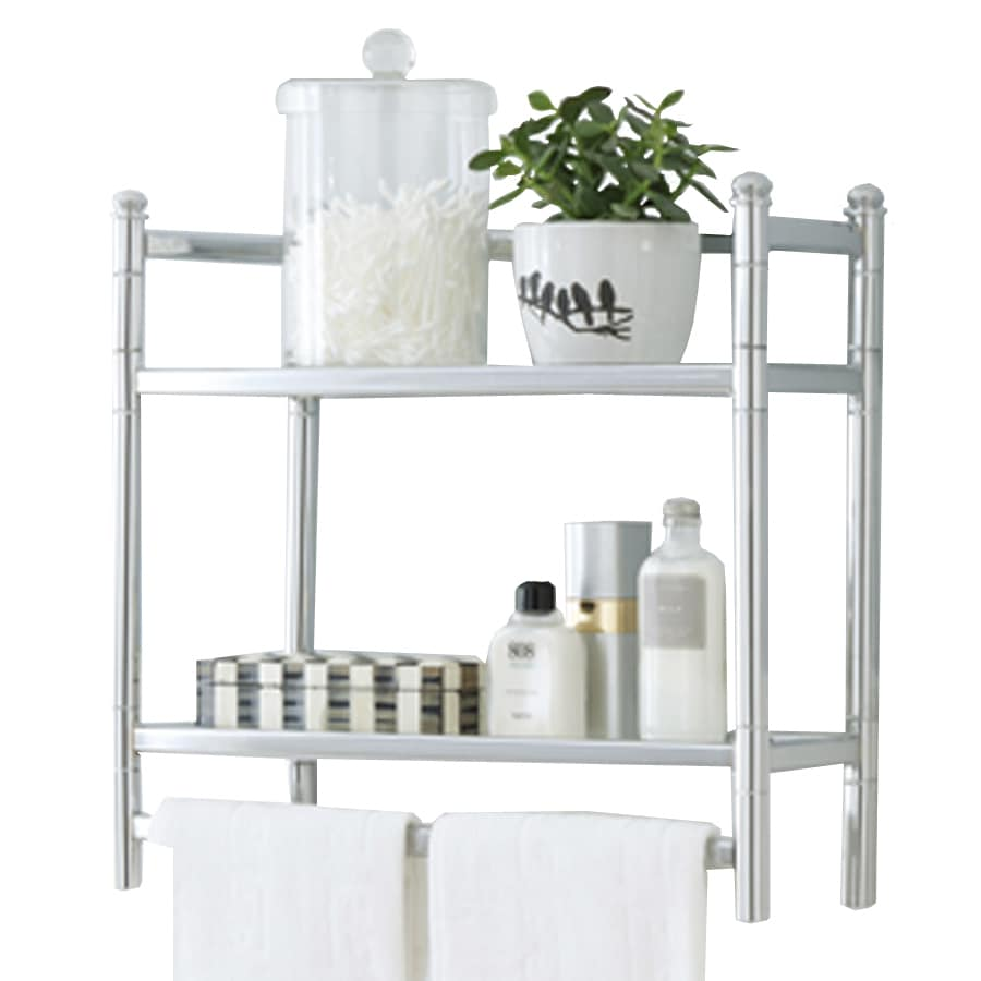 Style Selections 20.75-in W x 18.5-in H x 7.75-in D Steel Wall Mounted Shelving