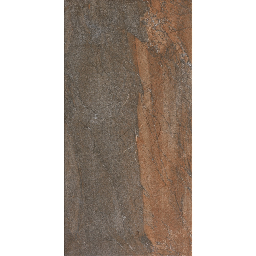 FLOORS 2000 Cortina 7-Pack Copper Porcelain Floor and Wall Tile (Common: 12-in x 24-in; Actual: 23.69-in x 11.87-in)