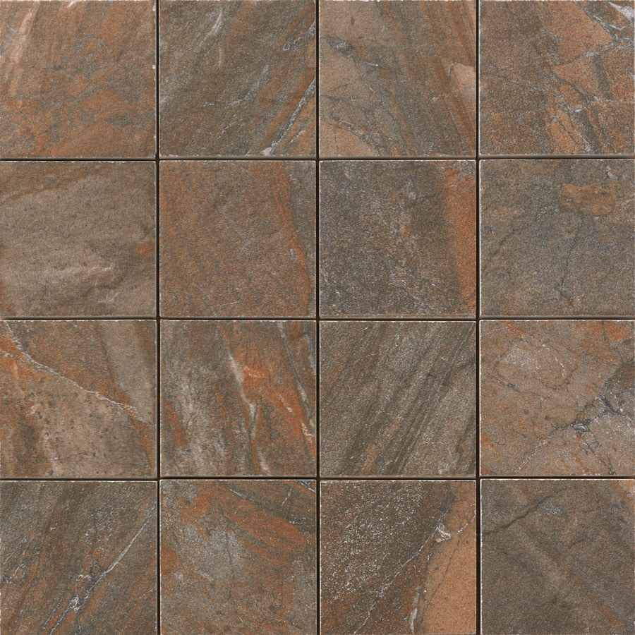 Floors 2000 Cortina Copper Uniform Squares Mosaic Porcelain Floor And Wall Tile Common 12