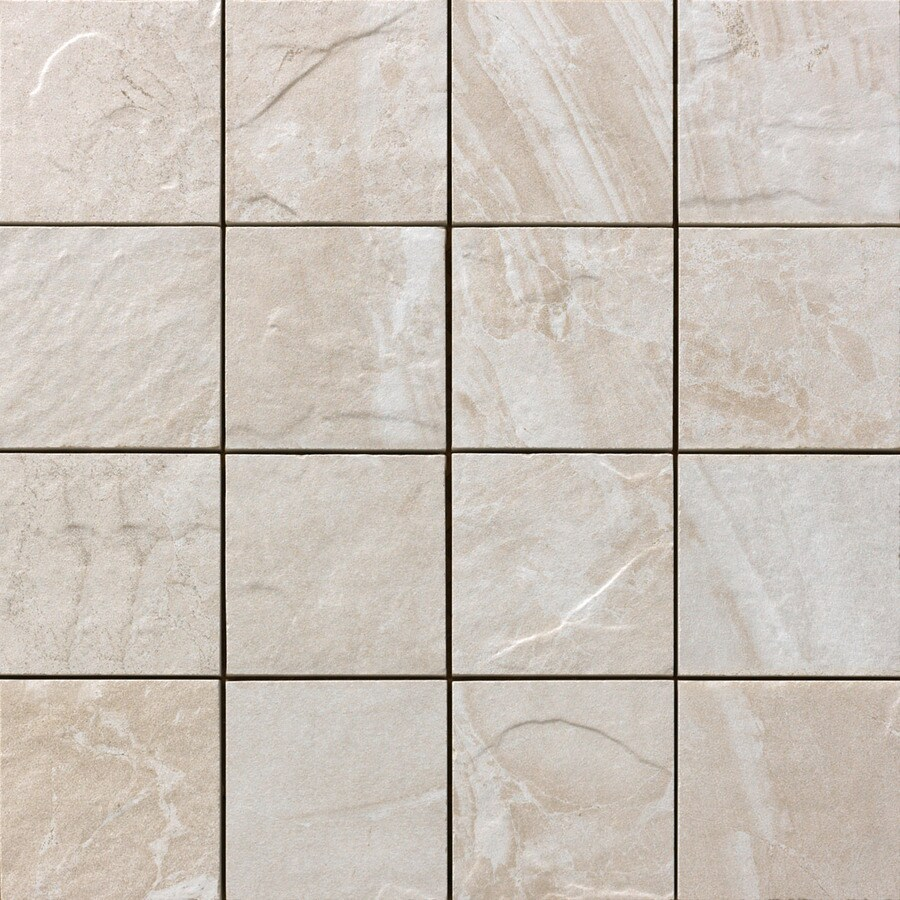 FLOORS 2000 Cortina Ivory Uniform Squares Mosaic Porcelain Floor and Wall Tile (Common: 12-in x 12-in; Actual: 11.87-in x 11.87-in)