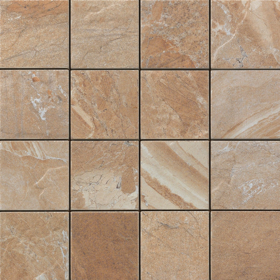 FLOORS 2000 Cortina Sand Uniform Squares Mosaic Porcelain Floor and Wall Tile (Common: 12-in x 12-in; Actual: 11.87-in x 11.87-in)