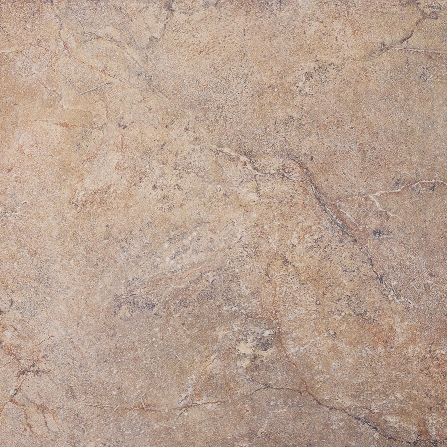 FLOORS 2000 6-Pack Lefontane Rosso Glazed Porcelain Indoor/Outdoor Floor Tile (Common: 20-in x 20-in; Actual: 19.68-in x 19.68-in)